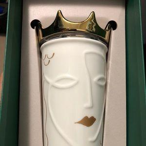 Starbucks 2016 siren lady gold crown